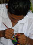 Xcaret - Riviera Maya, Mexico - Artisan at Work
